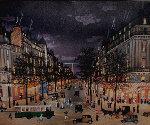 Ges Grands Boulevards La Nuit 2001 Limited Edition Print - Michel Delacroix