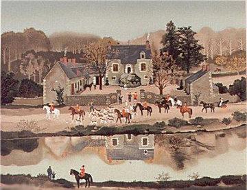 La Chasse a Courre, Suite of 4 1988 Limited Edition Print by Michel Delacroix