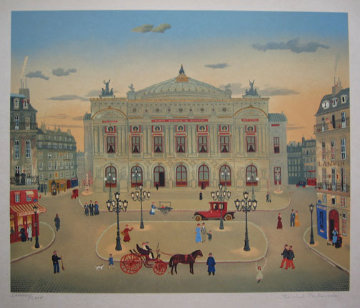 La Places Des Paris Suite of 6 1979 Limited Edition Print - Michel Delacroix