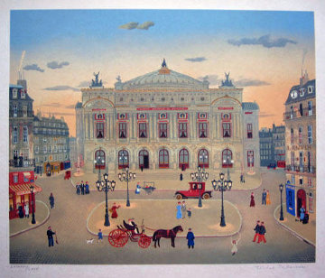 La Places Des Paris Suite  of 6 1979 Limited Edition Print - Michel Delacroix