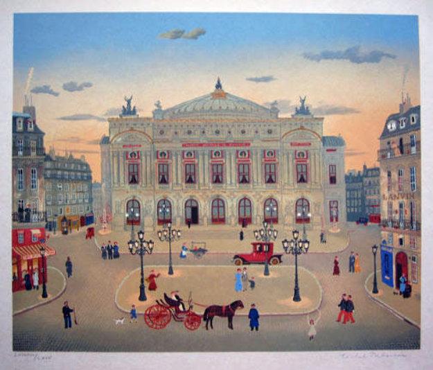 La Places Des Paris Suite  of 6 1979 Limited Edition Print by Michel Delacroix