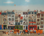 Untitled French Street Scene Limited Edition Print - Michel Delacroix