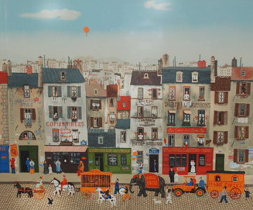 Untitled French Street Scene Limited Edition Print by Michel Delacroix