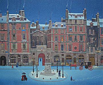 Place Dauphine 1979 Limited Edition Print - Michel Delacroix