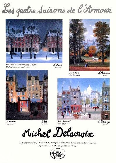 Les Quatre Saisons De l'amour AP: Suite of 4 1994 Limited Edition Print by Michel Delacroix