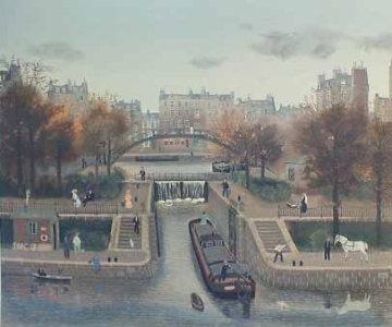Canal Street St. Martin (En Autumne) 1990 Limited Edition Print - Michel Delacroix