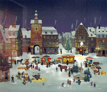 Le March Day Noel En Alsace 2008 Limited Edition Print - Michel Delacroix