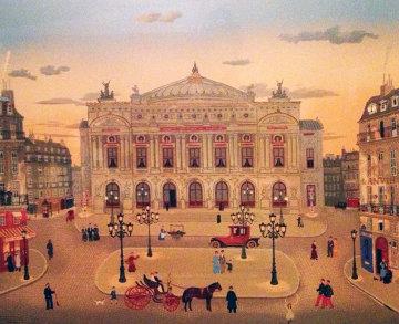 La Places De Paris 1979 Limited Edition Print - Michel Delacroix