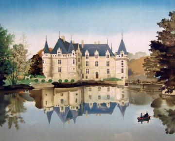 Azay-Le-Rideau 1987 Limited Edition Print - Michel Delacroix