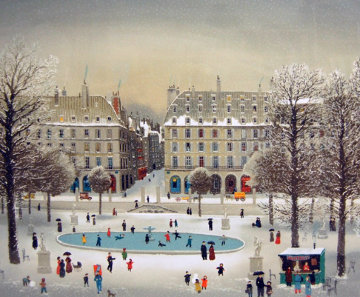 Jardin Des Tuileries 1987 Limited Edition Print - Michel Delacroix