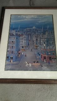 Montmartre, Paris Limited Edition Print by Michel Delacroix