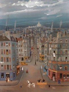 Montmartre in Paris Limited Edition Print - Michel Delacroix