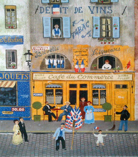 Cafe Du Commerce, Paris Limited Edition Print - Michel Delacroix