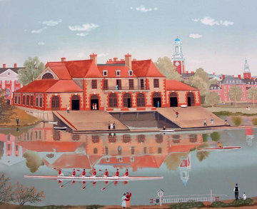 Weld Boathouse 1986 Limited Edition Print - Michel Delacroix