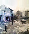 Le Theatre Du Luxembourg 1988 18x17 Original Painting - Michel Delacroix