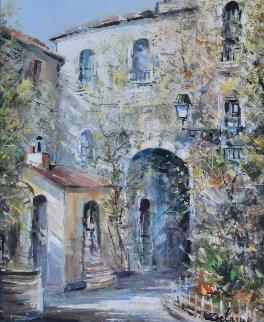 Cota D' Azur 31x26 Original Painting - Lucien DeLaRue