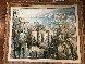 St. Martin Du Var 42x46 Original Painting by Lucien DeLaRue - 1