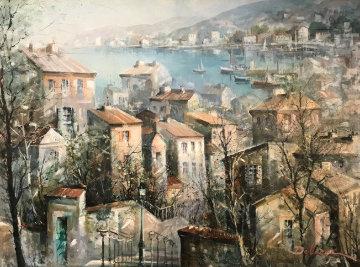 St. Martin Du Var 42x46 Super Huge Original Painting - Lucien DeLaRue