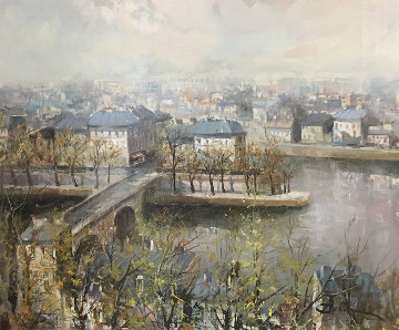 Untitled Painting 32x37 Original Painting - Lucien DeLaRue