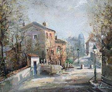 Le Lapain Agile Montmartre 23x33 Original Painting - Lucien DeLaRue