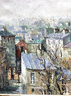 Parisian View Original 24x20 Original Painting - Lucien DeLaRue