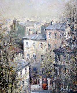 Les Taites De Montmartre Original Painting - Lucien DeLaRue