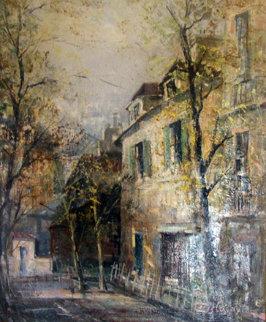 Vieille Maison a Montmarte  -  Old House in Montmartre Paris 1995 29x25 Original Painting - Lucien DeLaRue