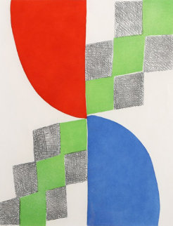 Untitled Lithograph 1970 Limited Edition Print - Sonia Delaunay