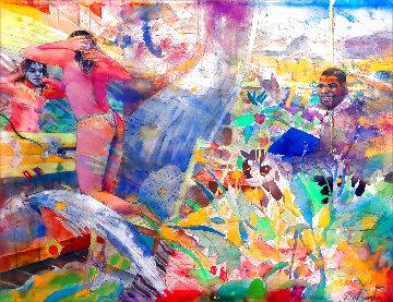 Untitled Watercolor 2010 24x30 Watercolor - Louis Delsarte