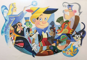 Pinocchio\'s World From Walt Disney Limited Edition Print - Robert de Michiell