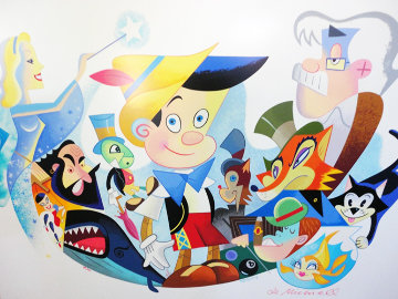 Pinocchio's World From Walt Disney Limited Edition Print by Robert de Michiell