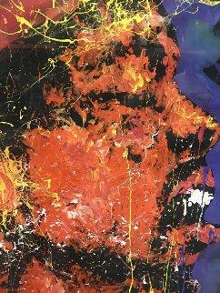 Jimi Hendrix 1993  70x54 Original Painting - Denny Dent