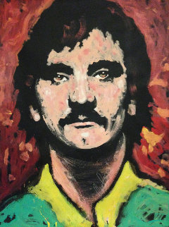 Joe Walsh From the Eagles 1983 48x36 Huge Original Painting - Denny Dent