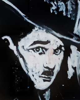 Charlie Chaplin 1995 71x54 Original Painting by Denny Dent