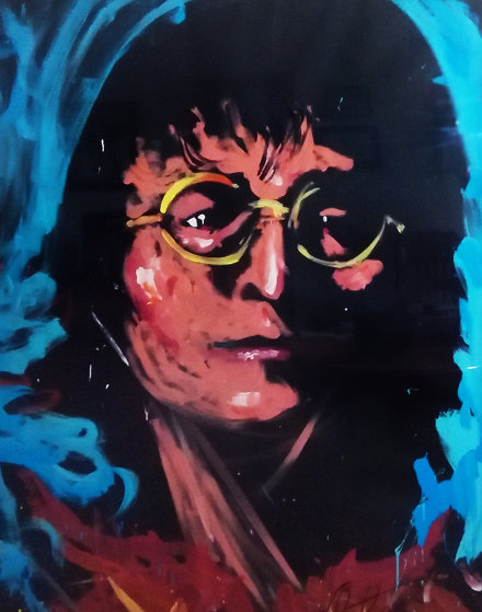 John Lennon 1992 67x51 Original Painting by Denny Dent
