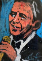 Frank Sinatra 1993 51x70 Original Painting - Denny Dent