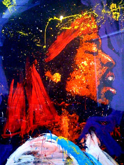Are You Experienced - Jimi Hendrix 1994 74x50 Original Painting by Denny Dent