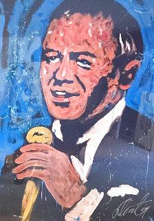 Frank Sinatra 1991 75x55 Super Hige Original Painting - Denny Dent