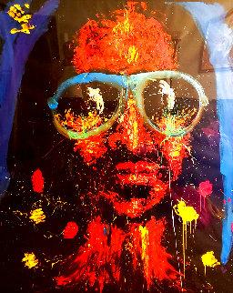 Stevie Wonder 1998 71x55 Huge Original Painting - Denny Dent