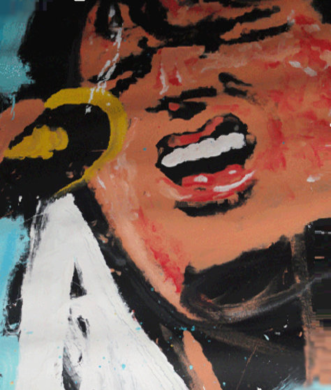 Elvis Presley 1988 71x53 Original Painting by Denny Dent