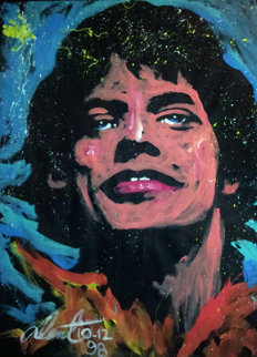 Mick Jagger 1998 70x54 Original Painting by Denny Dent