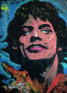 Mick Jagger 1998 70x54 Super Huge Original Painting - Denny Dent
