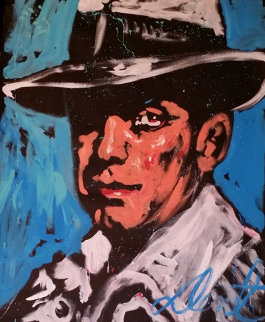 Humphrey Bogart 70x53 Super Huge Original Painting - Denny Dent