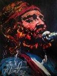 Willie Nelson 1992 69x52 Original Painting - Denny Dent