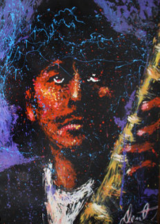 Santana With Hat 2001 76x58 Original Painting by Denny Dent