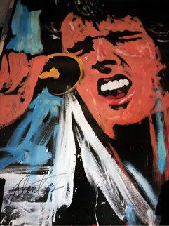 Elvis Presley 1992 72x54 Original Painting - Denny Dent