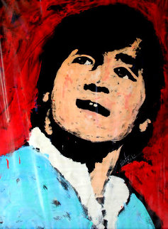 John Lennon 1982 53x41 Super Huge Original Painting - Denny Dent