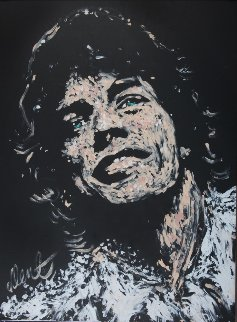 Mick Jagger 19876 36x48 Super Huge Original Painting - Denny Dent