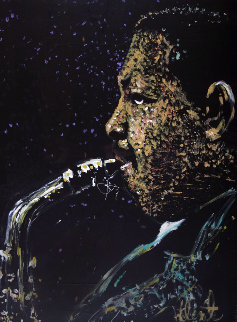 Julian Cannonball Adderley 1987 35x48 Super Huge Original Painting - Denny Dent
