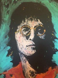 John Lennon 1984 34x46 Original Painting - Denny Dent